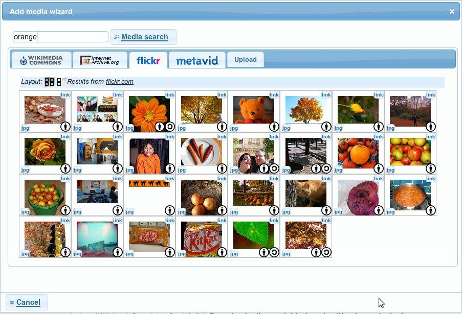 Skärmbild av sökgränssnittet