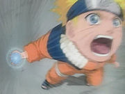 Naruto mengunakan Rasengan.