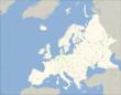 Карта Європи з позначенням найбільших міст