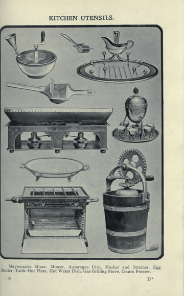 kitchen mixer island table for mrs. beeton's book of household management/chapter iv ...