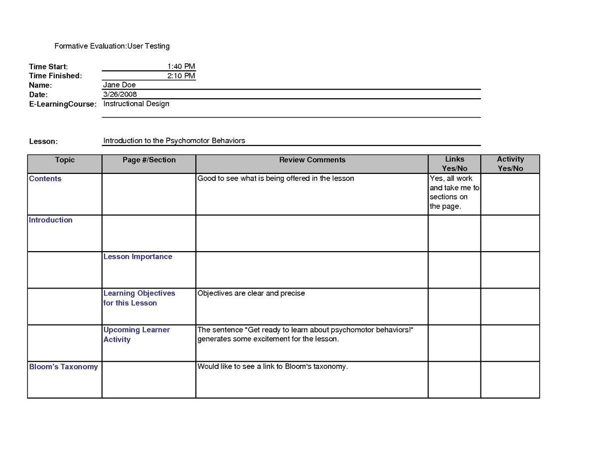 Instructional designUser testing of elearning coursesModule Summary  Wikiversity