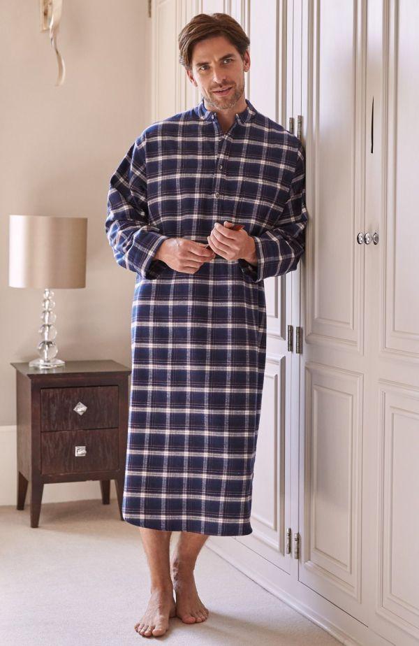 Men Nightshirts Long Cotton