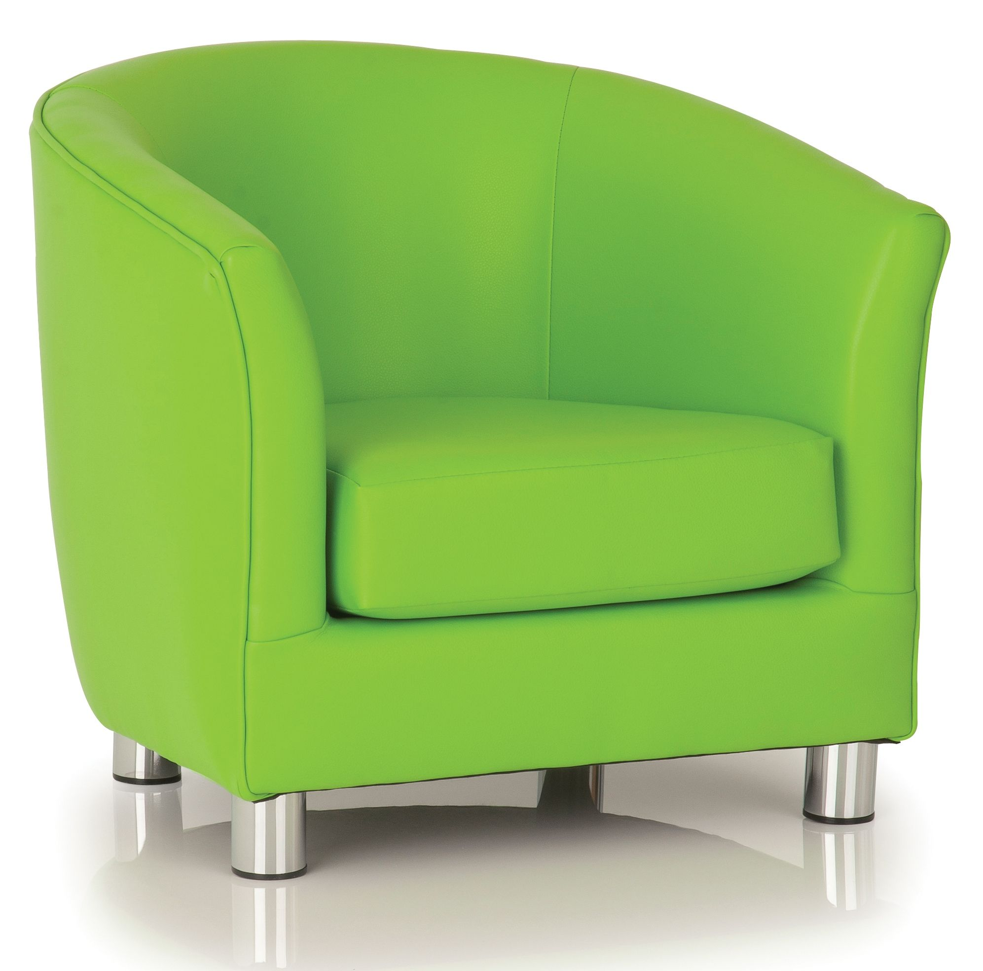 Lime Green Leather Chair