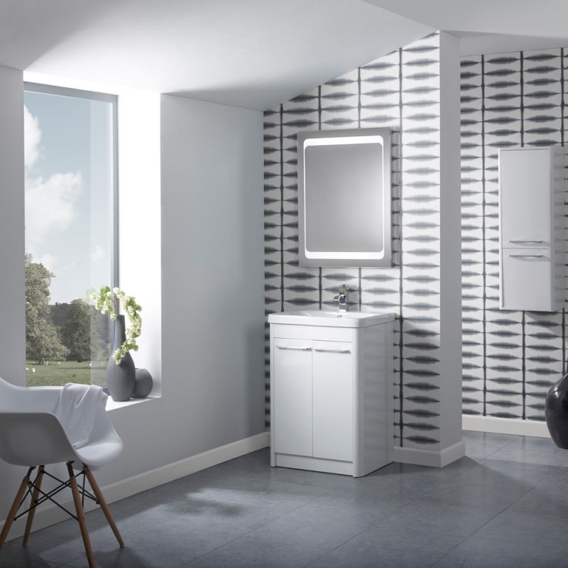 Contour 600 Freestanding Unit  White  R2 Bathrooms