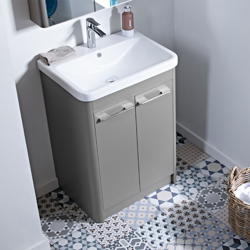 Contour 700 Freestanding Unit  Stone Grey  R2 Bathrooms