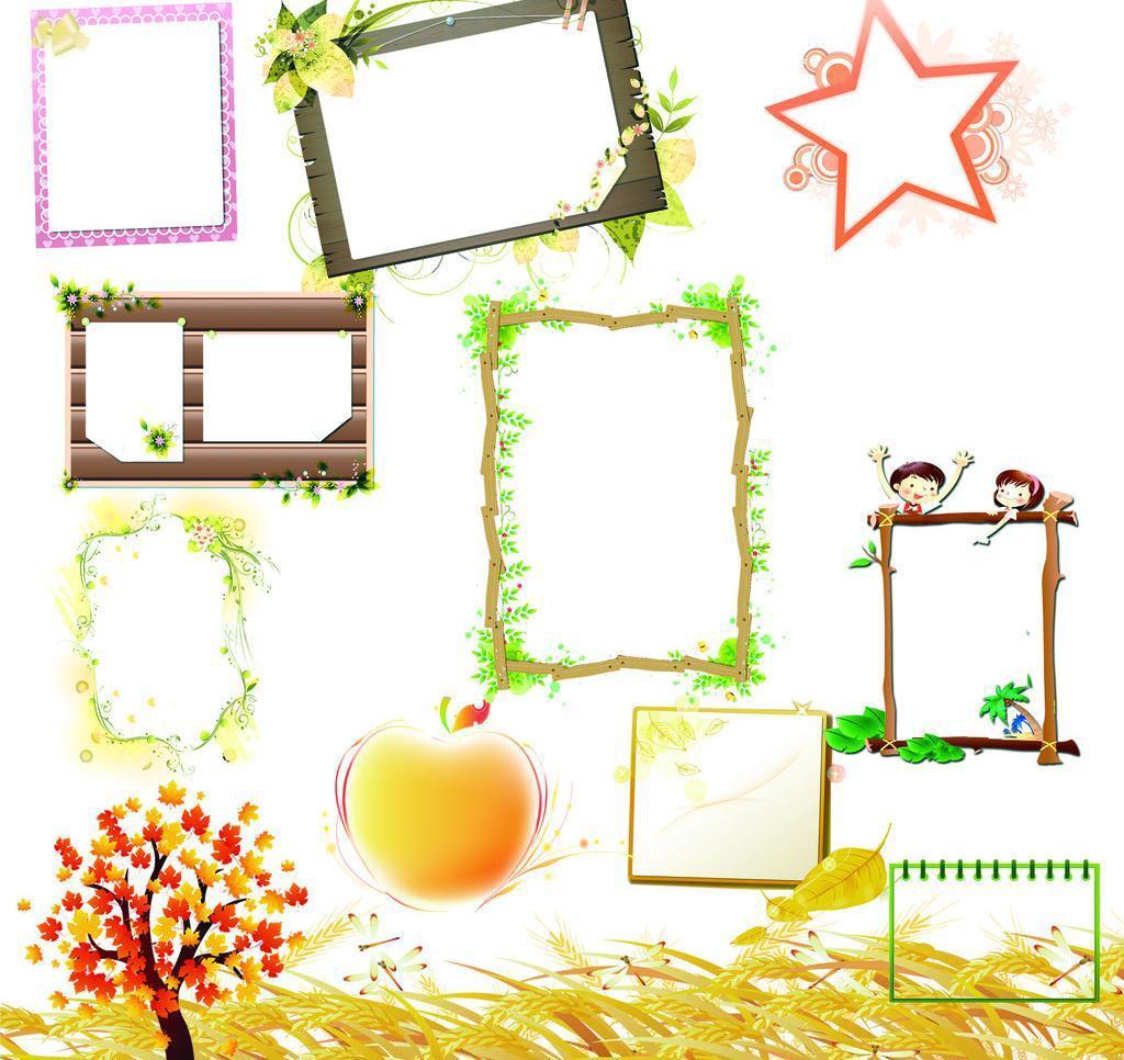 相框素材模板.源文件.PSD分層素材.免費下載 - 繪藝素材網