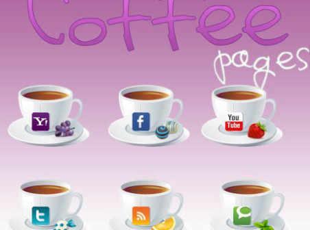 咖啡社會圖標.PNG.ico.圖標大全.免費下載 - 繪藝素材網