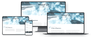 corporate website webpage resposiveness examples