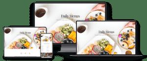 food website webpage responsiveness examples