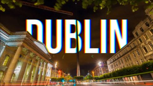 o'connell street dublin long exposure timelapse