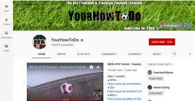 yourhowtodo youtube page screenshot graphic design