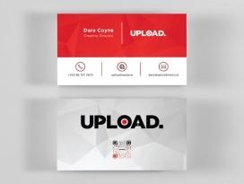 upload media business card front and back