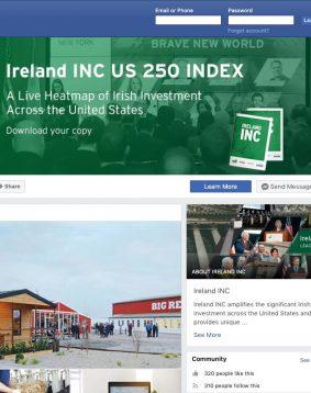 ireland inc facebook page screenshot graphic design