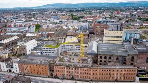 Guinness Quarter Aerial Drone Photography Image 1