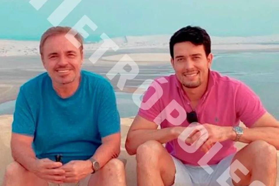 Leo Dias revela fotos do companheiro de Gugu em última viagem