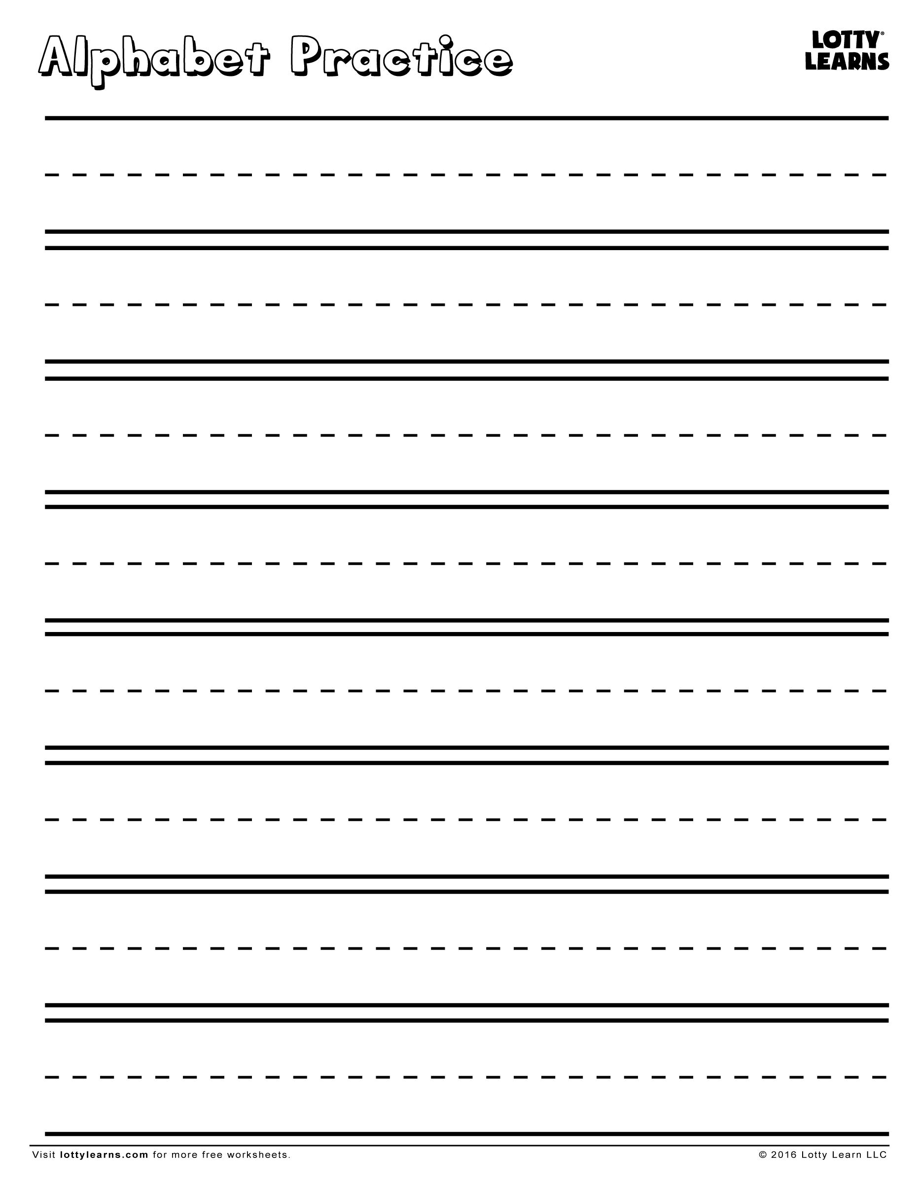 Alphabet Practice Sheet