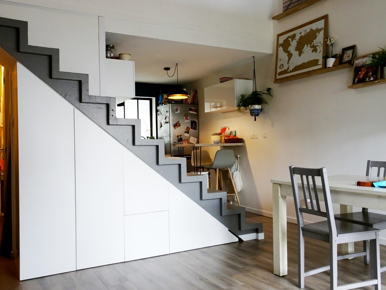 meuble sous escalier sur mesure