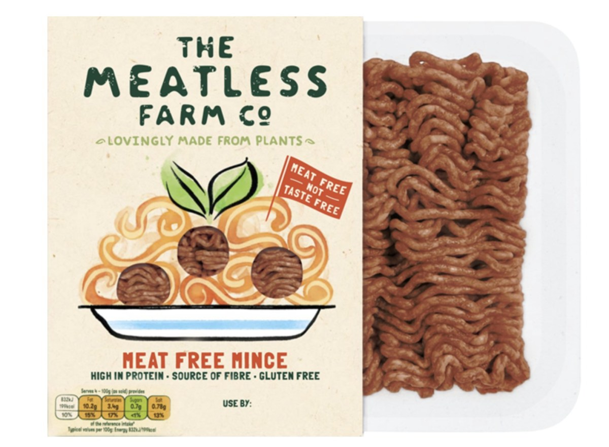 Vegan mince from The Meatless Farm Co