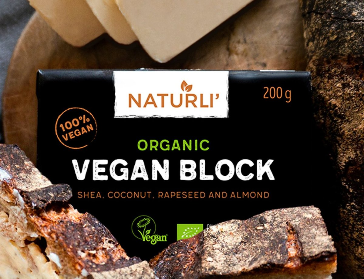 Vegan butter block from Naturli' Foods