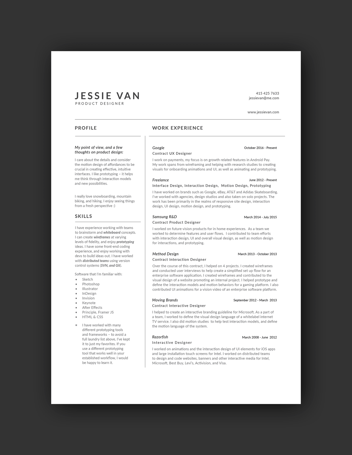 Tool Design Engineer Cover Letter 21 Inspiring Ux Designer Resumes And Why They Work