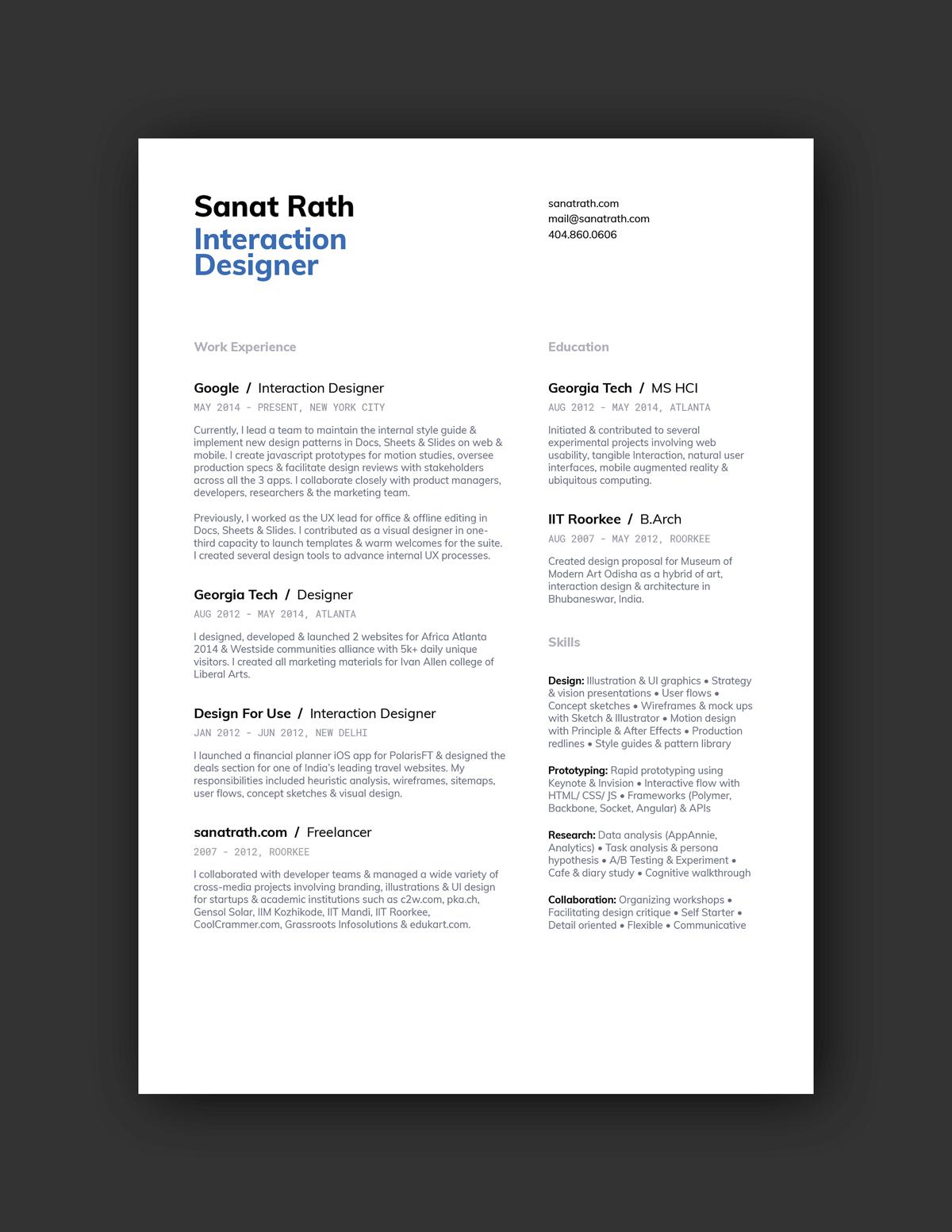 Modern Resume Examples 2019