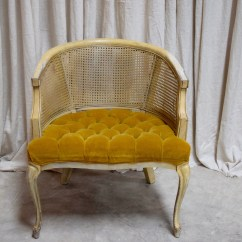 Tufted Yellow Chair Hair On Hide Vintage Upholstered Rentals