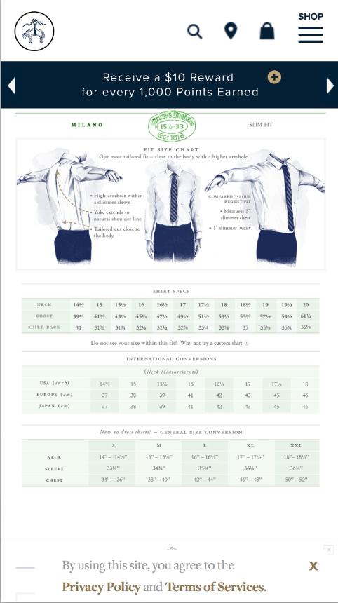 Brooks Brothers Sizing : brooks, brothers, sizing, Dress, Shirt, Measurements:, Starts
