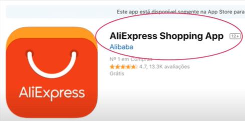 Aplicativo do AliExpress