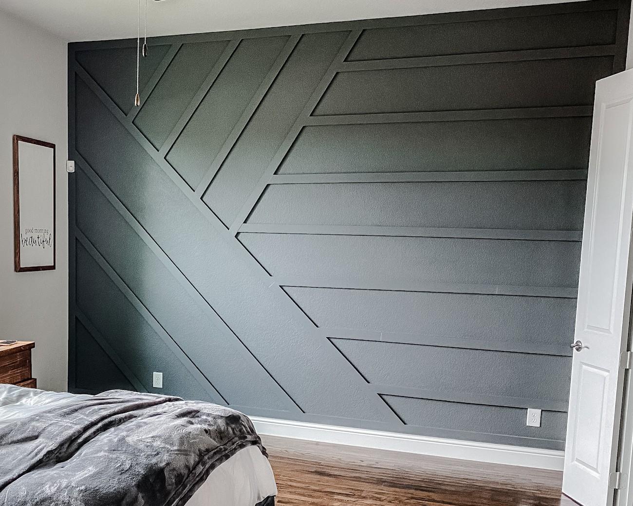 Modern Wood Accent Wall Dark Ash