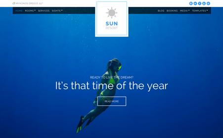 CSS Igniter Sun Resort WordPress Theme