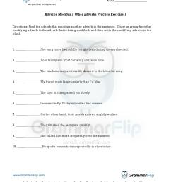 Modifiers Worksheet   Printable Worksheets and Activities for Teachers [ 1650 x 1275 Pixel ]