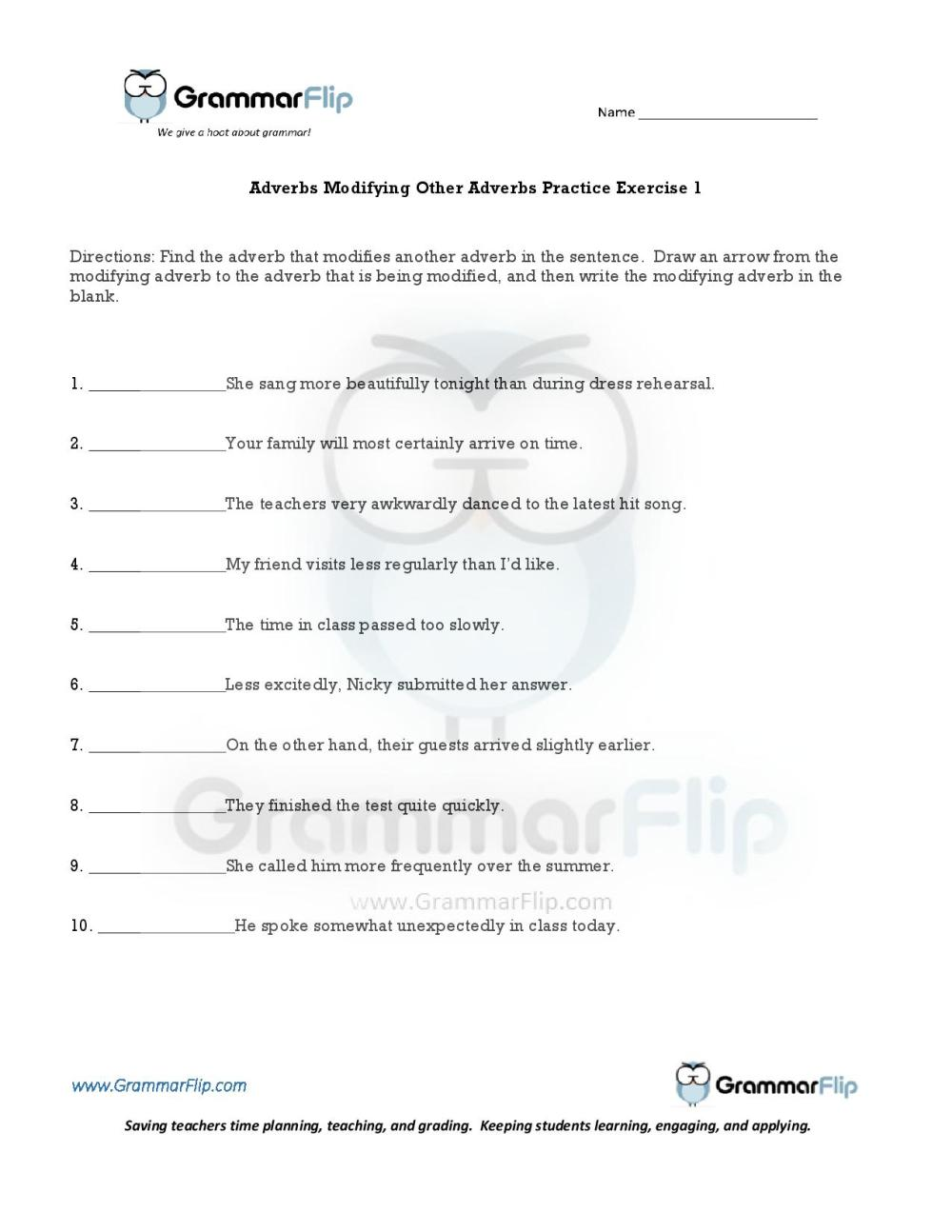 medium resolution of Modifiers Worksheet   Printable Worksheets and Activities for Teachers
