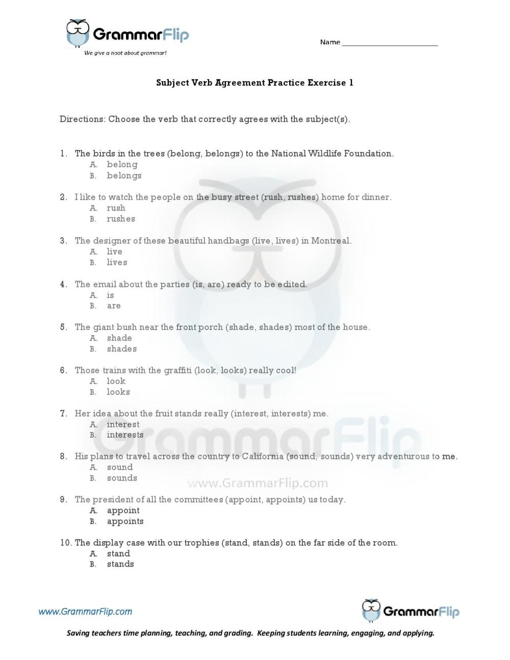 medium resolution of Object Complements Worksheet   Printable Worksheets and Activities for  Teachers
