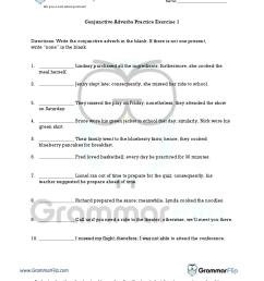 Conjunctive Adverbs Worksheet   Printable Worksheets and Activities for  Teachers [ 1650 x 1275 Pixel ]