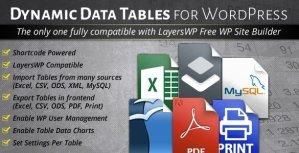 WordPress Dynamic Tables Input from XLS/MySQL/CSV