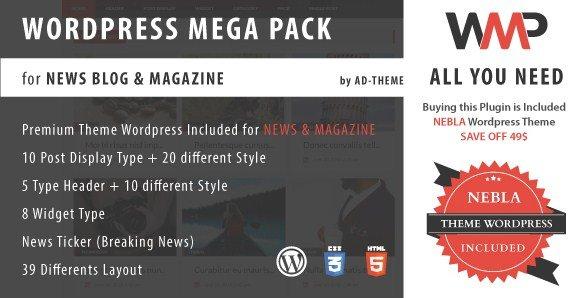 WP Mega Pack for News, Blog and Magazine Plugin