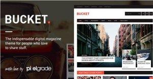 BUCKET – A Digital Magazine Style WordPress Theme