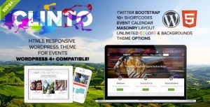 Clinto – HTML5 Responsive WordPress Theme for Events