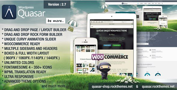 Quasar - Wordpress Theme With Animation Builder