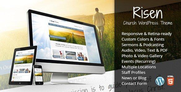Risen - Church WordPress Theme Responsive