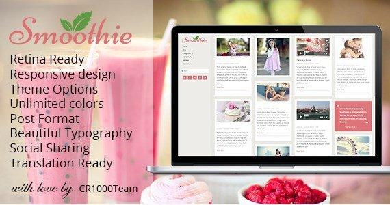 Smoothie - Retina Responsive WordPress Blog Theme