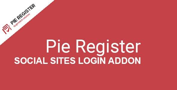 Pie Register Social Sites Login