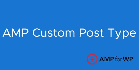 Custom Post Type Support For AMP