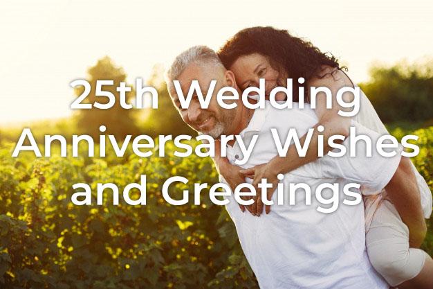 25th Wedding Anniversary Wishes Styiens