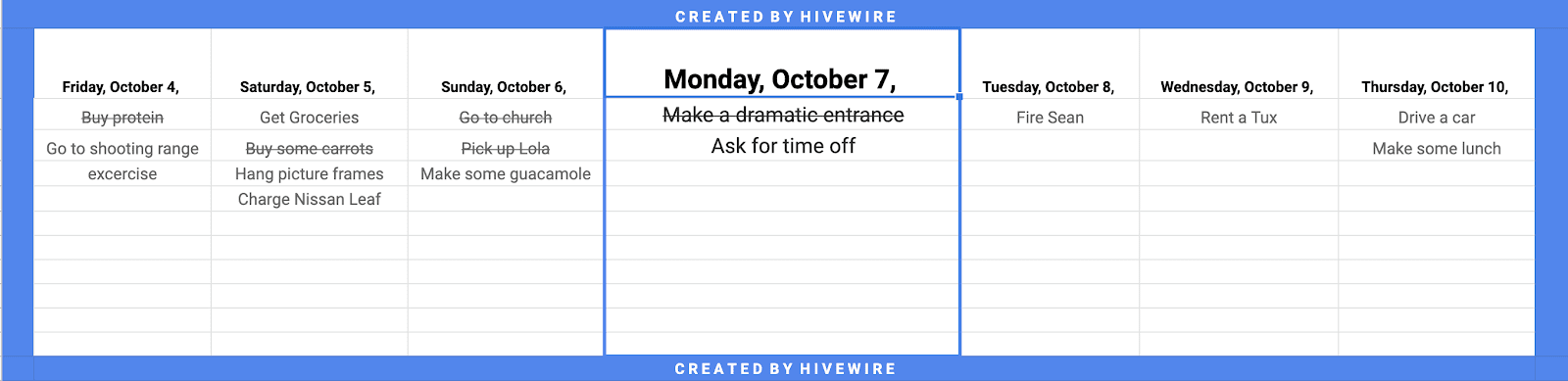 A day planner template helps you efficiently plan, organize, and schedule important tasks to maximize productivity. Hivewire