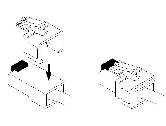 RJ45 Rastnase Reparatur Clips 16 Stück Netzwerkstecker Cat