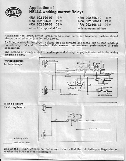 Wiring Diagram For Hella Driving Lights