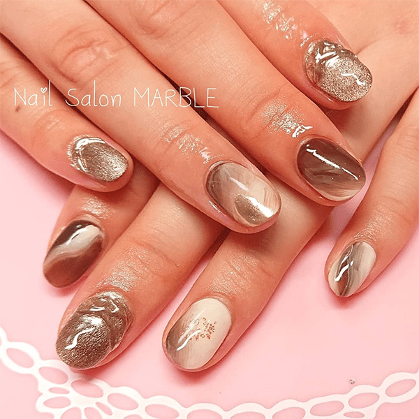 15 caramel latte nail looks so you can match your coffee with your manicure   techkashif