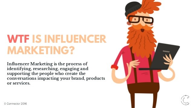 WTF influyente de marketing.