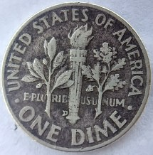 1972 D Dime Error Rare - Year of Clean Water